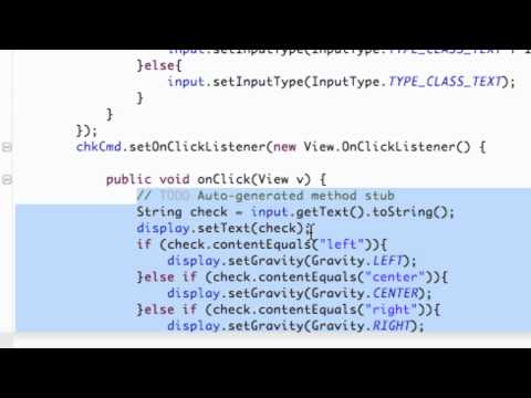 Android Application Development Tutorial - 34 - Implementing Classes for Better Programming