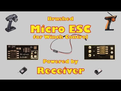 Brushed Micro ESC powered by Receiver