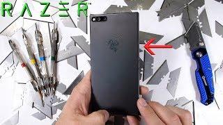 Razer Phone Durability test - Scratch BURN and BEND tested!