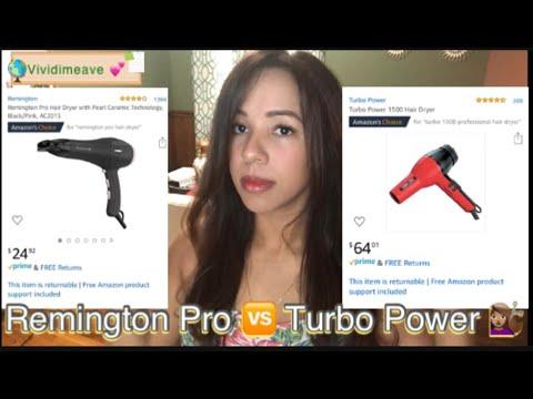 Remington Pro Vs Turbo Power cual seca mejor. Honest Review