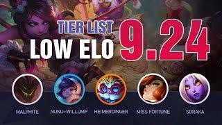 PRESEASON LOW ELO LoL Tier List Patch 9.24 by Mobalytics - League of Legends