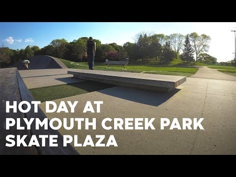 First time to Plymouth Creek Park Skate Plaza