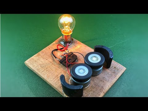 Free Energy Electricity Generator Using DC Motor (Dynamo) With Magnets – Easy DIY Project Homemade