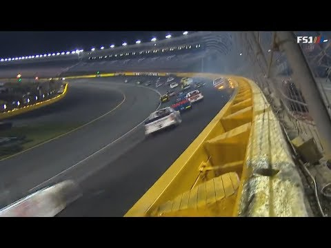NASCAR Camping World Truck Series 2018. Charlotte Motor Speedway. Restart Crash