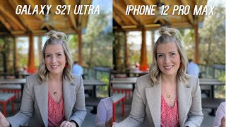 Samsung Galaxy S21 Ultra 5G vs Apple iPhone 12 Pro Max Camera Test Comparison