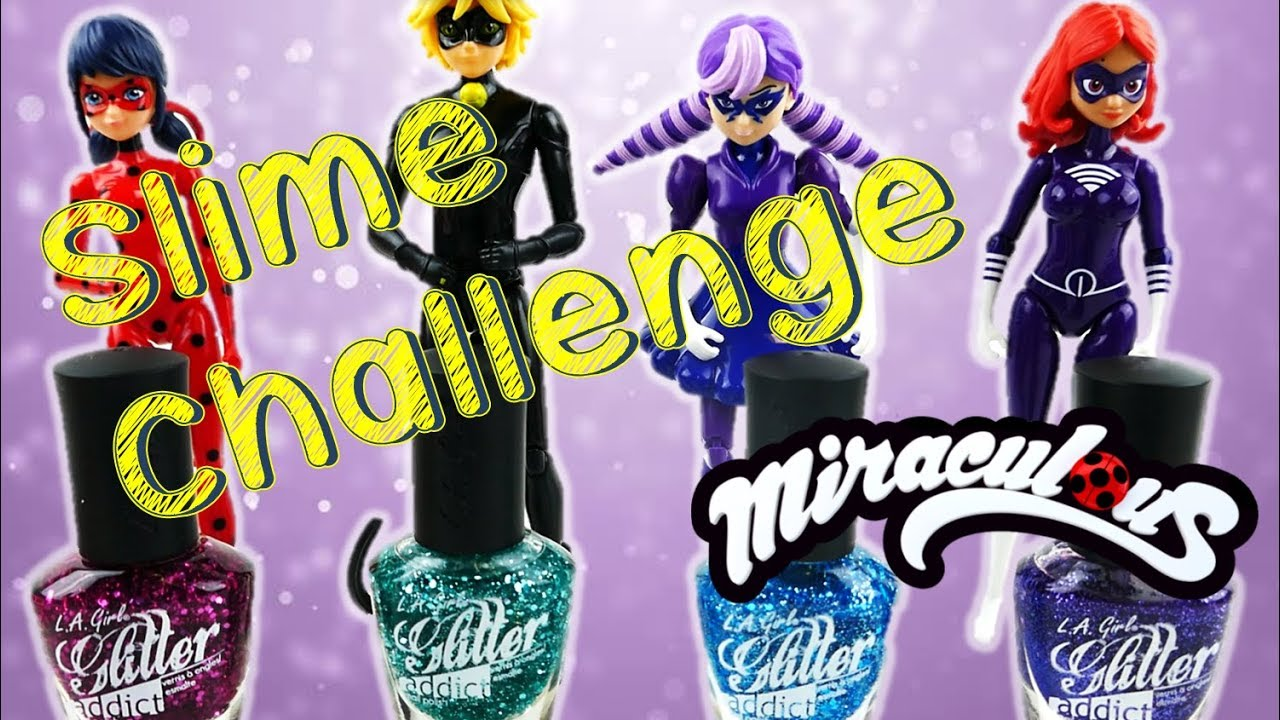Miraculous Ladybug Two Ingredient Nail Polish Slime Challenge - No Borax