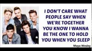 One Direction - Happily (Lyrics and Pictures) (Album Midnight Memories)