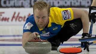 CURLING: NOR-SWE World Mens Chp 2015 - Final
