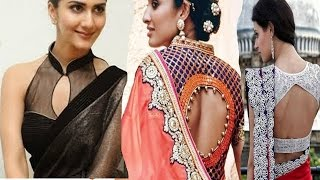 e0aa6ca6314fab Collar neck blouse designs for indian sarees