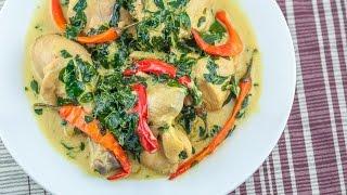 MAANGHANG NA GINATAANG MANOK – Spicy Chicken in Coconut Milk