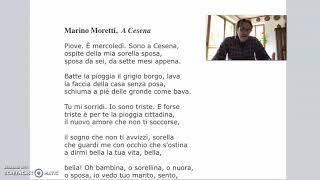 Marino Moretti, A Cesena