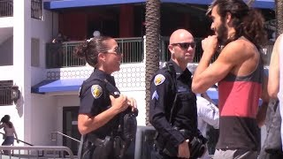 Hitting on Cops Prank