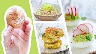 3 классных блюда из ВАРЕНЫХ ЯИЦ 🍴 Фаршированные Яйца ➕ Крабовый салат ➕ Яичные котлеты