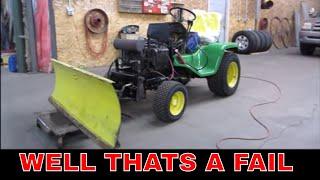 Free Broken John Deere Tractor, Can We get The Plow Working?