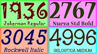 Numbers 1 To 5000 In 500 Fonts! (Every Photoshop Font - Almost)
