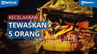 5 Orang Tewas Dihantam Truk Rem Blong di Sempolan Jember