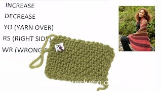 How to knit from corner to corner with increase and decrease