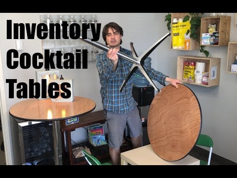 Growing Event Rental Business - Inventory: Cocktail Tables