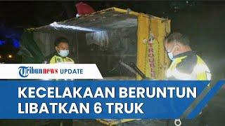 Kecelakaan Beruntun di Bangkalan Madura, 6 Truk Saling Seruduk dan 2 Sopir Tewas di Lokasi Kejadian