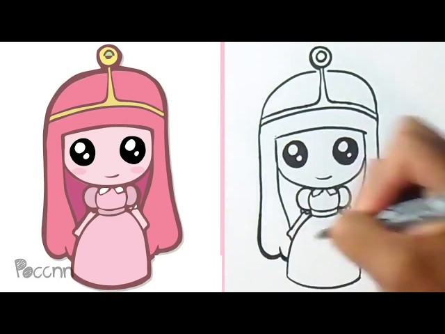 Cómo Dibujar A Dulce Princesa como dibujar a marshmello how to draw ...