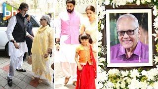 Amitabh Bachchan | Aishwarya Rai Bachchan | Abhishek | Krishnarai Raj's 13th Day Ritual Ceremony