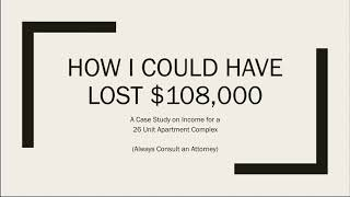 WOLLASTON WEDNESDAY #20: How I Could Have Lost $108,000