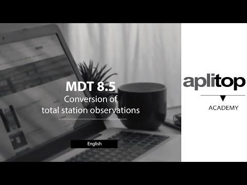 MDT8 Conversion of total station observations