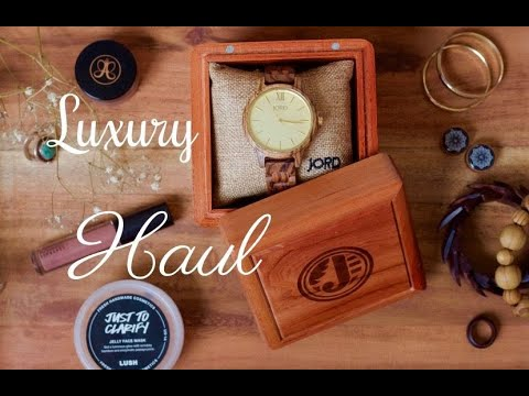 Luxury Haul | Dior Makeup, Natural Skin Care, Ft. Jord Wooden Watches
