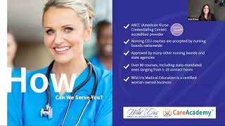 Introducing Registered Nurse CEUs, Accredited by the ANCC