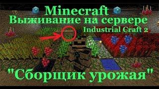 Выживание на сервере industrial craft2/Сборщик урожая industrial craft2 (Как сделать сборщик урожая)