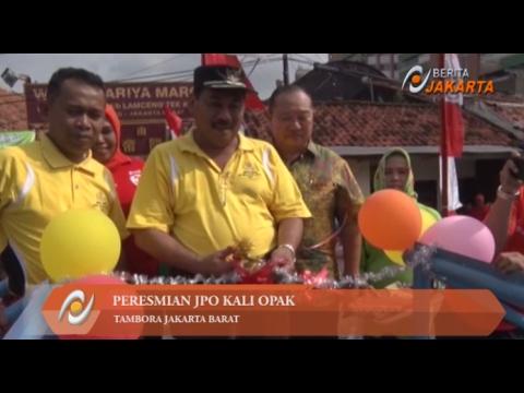 Wali Kota Jakbar Resmikan JPO Kali Opak