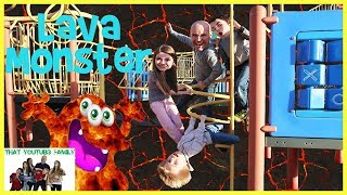 The Floor Is Lava   LAVA MONSTER   Playground Wars  That YouTub3 Family | Family Channel