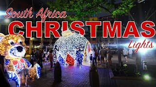 An Epic Christmas Light display at Melrose Arch