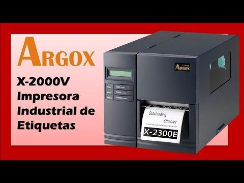 Impresora Industrial de Etiquetas Argox X2000V Xellent Impresión Stand-Alone con Teclado Sin CPU
