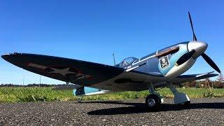 HobbyKing Durafly Supermarine Seafire MkIIB 1100mm WWII RC Warbird 4S Lipo Power Flight