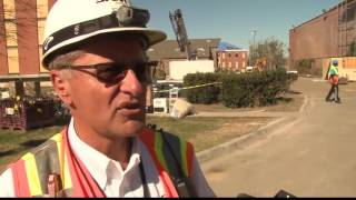 William Carey cleans up after tornado