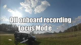 BetaFPV 95X DJI Digital FPV Caddx Vista focus mode test