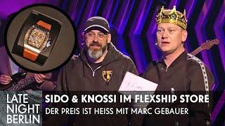Sido & Knossi raten Preise von Luxus-Uhren: Flexen mit Marc Gebauer   Late Night Berlin   ProSieben
