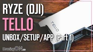 DroningON | Ryze/DJI Tello Review (Part 1) - Unboxing, Setup & App