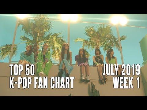 Top 50 K-Pop Songs Chart - July 2019 Week 1 Fan Chart