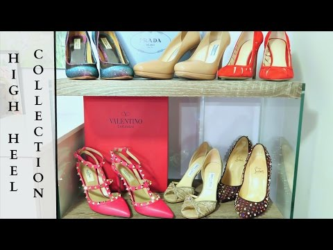 HIGH HEEL COLLECTION   SHOE TRY ON AND REVIEW