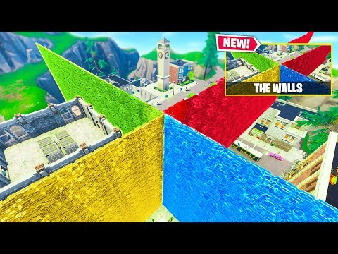 THE WALLS *NEW* Custom Gamemode In Fortnite Battle Royale!