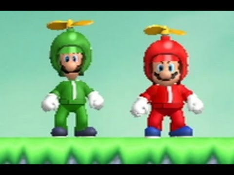 New Super Mario Bros Wii Walkthrough Co Op World 4 All Star