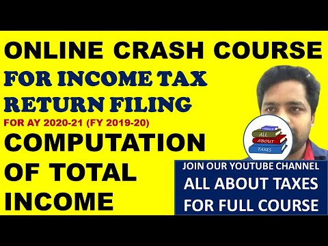FREE INCOME TAX RETURN FILING COURSE FOR AY 2020-21 ...