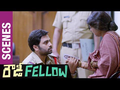 Rowdy Fellow Telugu Movie Scenes | Rameshwari slaps Nara Rohit in Police Station | Vishakha Singh