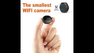 Wifi Spy Camera,1080P Portable Hidden Cameras Wireless Home Security Small Camera