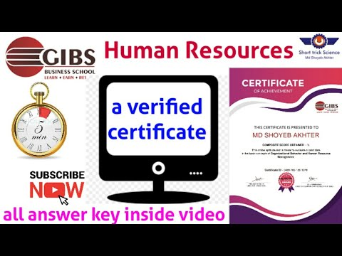 Free Human Resources verified Certificate | all answer key of ...