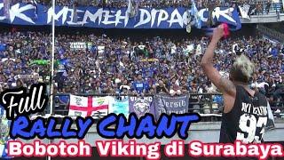 Berisiknya Ribuan Bobotoh Viking Persib Bersuara Di Stadion GBT Surabaya | Persebaya Vs Persib