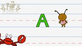 Write the letter A | Alphabet Writing lesson for children | The Singing Walrus