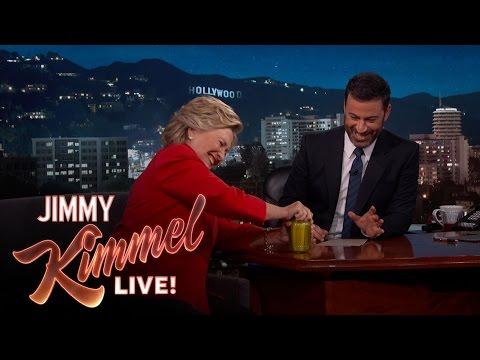 Hillary Clinton und das Gurkenglas